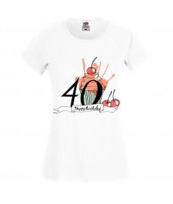 Jubileumi póló - 40 éves nőnek