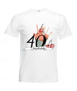 Jubileumi póló - 40 éves férfinak